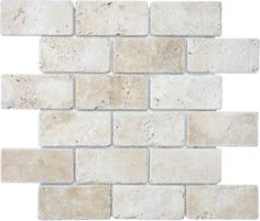 "2""x4"" Tumbled Ivory #Travertine #tile www.anatoliatile.com"