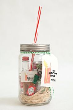 Best DIY Gifts in Mason Jars - Bloody Mary Gift In A Jar - Cute Mason Jar Crafts and Recipe Ideas that Make Great DIY Christmas Presents for Friends and Family - Gifts for Her, Him, Mom and Dad - Gifts in A Jar That Are Easy, Quick and Cheap http://diyjoy.com/best-diy-mason-jar-gifts