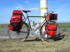 Bike Bicycle Self-contained Touring Equipment and Packing List