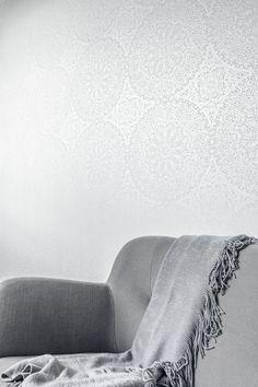 White Light 1715 Metallic Vlies-Tapete Orient €49.90 orientalische Ornamente weiß silber: Amazon.de: Baumarkt