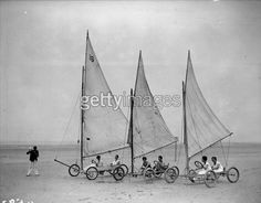Getty Images Gallery | 1927 Sand Yachts on a French Beach