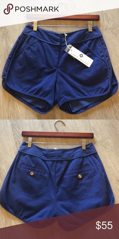 Annie Griffin 'Caden Short' in Navy Navy shorts with front and back pockets annie griffin Shorts