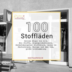 100 Stoffläden: Stoffe kaufen im Internet und in Deiner Stadt A list of (online) fabric shops has been really missing. We buy our favorites for upcoming sewing projects from you. Sewing Hacks, Sewing Tutorials, Sewing Projects, List Of Fabrics, Buy Fabric Online, Textiles, Fabric Shop, Shopping Sites, Sewing Clothes