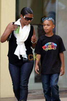 Actress Nia Long and son