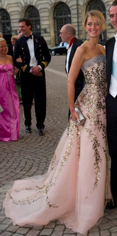 Princess Tatiana of Greece in, Carolina Herrera gown.