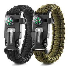 X-Plore Gear Emergency Paracord Bracelets   Set Of 2  The ULTIMATE Tactical Survival Gear  Flint Fire Starter, Whistle, Compass & Scraper/Knife  BEST Wilderness Survival-Kit (Green/Black)  http://stylexotic.com/x-plore-gear-emergency-paracord-bracelets-set-of-2-the-ultimate-tactical-survival-gear-flint-fire-starter-whistle-compass-scraperknife-best-wilderness-survival-kit-greenblack/