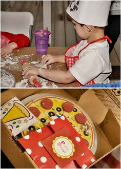 Pizza party activity and party favor. #kids #birthday #party #fun #math #fractions