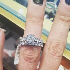 That's a match, and boom - it's officially ordered from Richter and Phillips. Drew picked this beauty out all on his own! Just over two months away! #wedding #bling #diamonds #ring #jewelry #forever #bridetobe #beautiful #Cincinnati #martinflyer #latergram