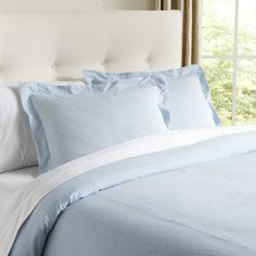 Elizabeth Seersucker Duvet | Whisk yourself off to a seaside escape with this seersucker sham in soft cotton that's as breezy as the perfect summer day.