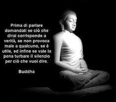 Prima di parlare domandati se ciò che dirai corrsiponde a verità, se non provoca male a qualcuno, se è utile, ed infine se vale la pena turbare il silenzio per ciò che vuoi dire. #Buddha