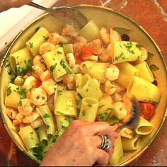 This large tubular pasta is often paired with seafood.  Here's a great recipe to try!  Featured on show 2019 - Perfect Paccheri.