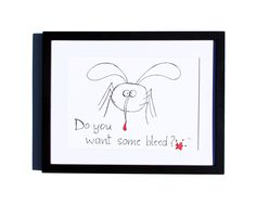 Fineliner – Drawing handmade 20x30cm: Mosquito – a unique product by ARTandCAT on DaWanda