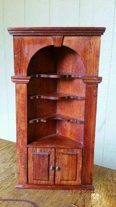 Tynietoy wooden cirner cabinet cupboard dollhouse miniature furniture  #tynietoy
