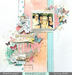 Hip Kit Club DT Project - 2017 January Hip Kits; Pink Paislee Moonstruck, One Canoe Two Hazelwood, Hip Kit exclusive papers and die cuts by Kim Watson & Kimberly Hutchison, Heidi Swapp Texture Paste, Shimmerz Paints; Carta Bella stencil