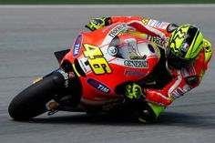 Rossi in full Ducati colors