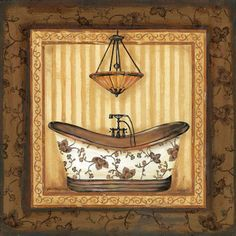Bathroom 1 Printable modpodge or scrapbooking