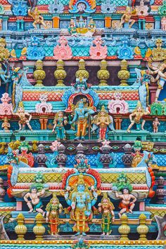 Sri Ranganathaswamy Temple, Tiruchirappalli, Tamil Nadu, India 21 Most Colorful And Vibrant Places In The World Beautiful Places In The World, Places Around The World, Around The Worlds, Amazing Places, Hindus, Sri Lanka, Places To Travel, Places To See, Travel Destinations