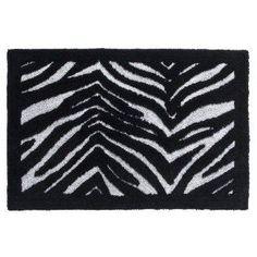 Classic Safari HHRUGZ Classic Safari In X In Zebra Print - Black and white zebra bath rug for bathroom decorating ideas