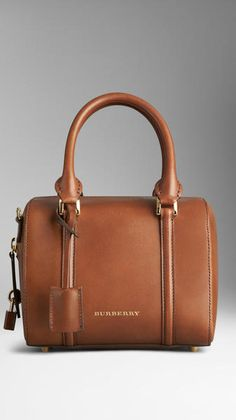 93a2724b8972 Burberry Small Sartorial Leather Bowling Bag - Lyst Burberry Tote