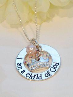Child of God Necklace I Am a Child of God LDS Baptism by Cheri1973