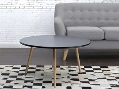 Large Wooden Coffee Table Vintage Round Side Tables Retro Living Room Furniture for sale online