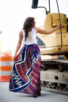 Skirt! (By Chen Burkett NY). #Africanfashion #AfricanWeddings #Africanprints #Ethnicprints #Africanwomen #africanTradition #AfricanArt #AfricanStyle #Kitenge #AfricanBeads #Gele #Kente #Ankara #Nigerianfashion #Ghanaianfashion #Kenyanfashion #Burundifashion #senegalesefashion #Swahilifashion ~DK