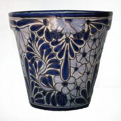 Ceramic Flower Pot 30cm - Blue & White