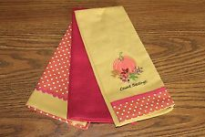 Lenox Count Blessings Autumn Holiday Embroidered Kitchen Towels Set of 3 NEW