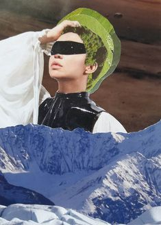 Mountain Lady #kunst #mixedmedia #decoration #paper #collageart #photography #space #portrait #byboefje Collage Artists, Portrait, Decoration, Lady, Unique, Handmade, Collection, Art, Decorating