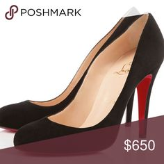 Louboutin Black suede size 8 Brand New ,style  Ron Ron , size 8 Christian Louboutin Shoes Heels