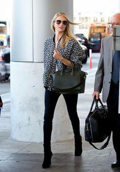 Celeb Diary: Rosie Huntington Whiteley @ LAX International Airport