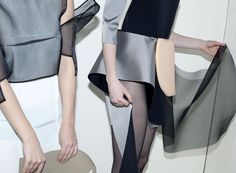 Dismantle by Stephanie Baechler. Photography: Anja Schori. Model: Elise Aarnink #fashion #de-construction