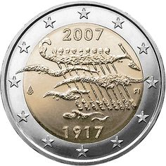 2 Euro Commemorative Coins: 2 euro coins Finland Anniversary of Finland's Independence. Commemorative 2 euro coins from Finland Piece Euro, Euro Coins, Gold Stock, Commemorative Coins, Proof Coins, Gold Bullion, World Coins, Coin Collecting, Silver Coins
