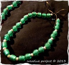 collana verde-argento