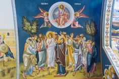 inaltarea domnului Byzantine Icons, Orthodox Christianity, Religious Icons, Orthodox Icons, Princess Zelda, Painting, Fictional Characters, Image, Easter