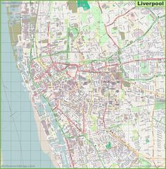 Detailed map of Dundee Maps Pinterest Dundee and City