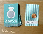 Jeweler Blue Bridal Scratch-offs by Inklings Paperie // Inklings Paperie is in the running for an American Made Audience Choice Award and could win 10k and appear in Martha Stewart Living magazine. Votes can be placed daily between Sept 7th - 24th, 2012!
