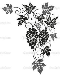 Vine, leaves, grapes — Stock Vector #31462339