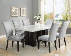 Dinning Room Sets, Luxury Dining Room, Dining Room Walls, Dining Chair Set, Dining Room Furniture, Elegant Dining Room, Dining Tables, Sofa Set, Silver Bedroom Decor