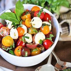 Quick Caprese Salad, from the Healthy Foodie
