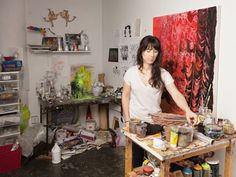 Sarah Thibault in her studio