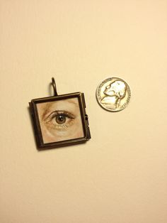 Custom Lover's Eye Miniature Painting 18th 19th c. by Keelhauled