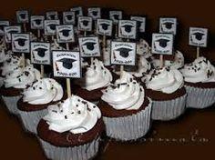Resultado de imagen de cupcakes decorados para graduación