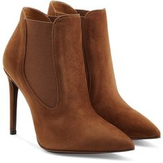 fashionable cheap price sale fashionable Ralph Lauren Collection Suede Pointed-Toe Booties buy cheap cost excellent cheap price o9PCbnWW