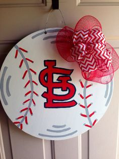 Hey, I found this really awesome Etsy listing at https://www.etsy.com/listing/193116985/baseball-door-hanger-st-louis-cardinals