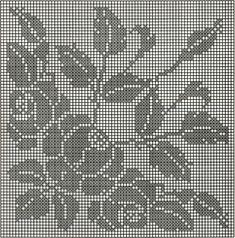 Filet Crochet Charts, Crochet Motifs, Crochet Cross, Crochet Art, Crochet Stitches, Crochet Patterns, Cross Stitch Rose, Cross Stitch Flowers, Cross Stitch Patterns