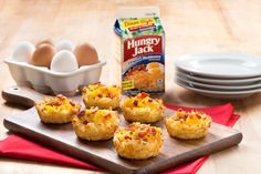 Perfect for a special family brunch - crispy hashbrown nests with eggs and cheese are savory enough for a side dish and light enough to serve as an appetizer.