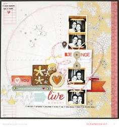 Live-in-the-moment - Natalie Elphinstone @Studio_Calico Bluegrass Farm scrapbook kit - die cut heart #SCbluegrassfarm
