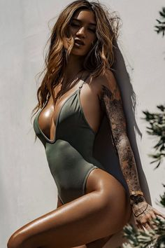 36add2296457 So Chic one piece swimsuit | SAGE | Gooseberry Intimates Gooseberry  Intimates, Sexy Tattoos,