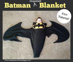 Batman Blanket  Free tutorial using our free shark/mermaid tail pattern!